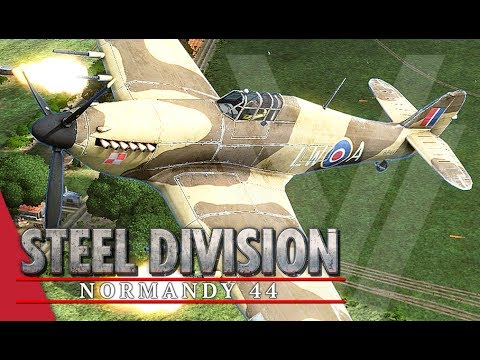 1st Pancerna! Steel Division: Normandy 44 Gameplay #1 (Pegasus Bridge, 4v4)