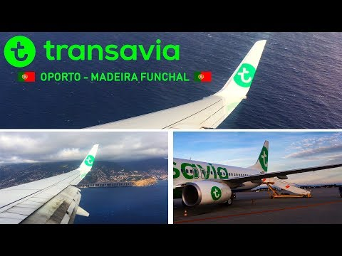 EUROPE'S HARDEST AIRPORT MADEIRA (FUNCHAL) - Transavia 737-800 Oporto - Madeira FULL FLIGHT