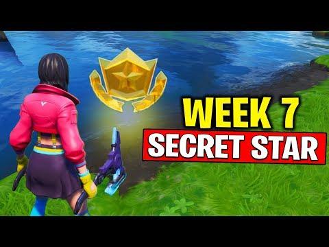 WEEK 7 SECRET BATTLE STAR LOCATION! Fortnite Season 10 - Secret Battle Star Week 7 | TamashaBera