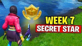 WEEK 7 SECRET BATTLE STAR LOCATION! Fortnite Season 10 - Secret Battle Star Week 7