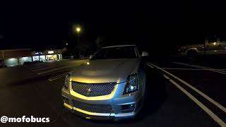 CTS-V (760hp) vs Turbo mustang! DIG! 1200hp GTR flyby
