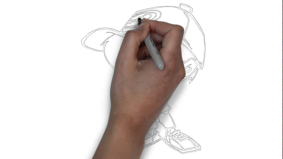 Cómo dibujar un jugador de béisbol - YouTube