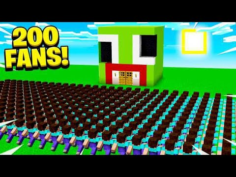 200 FANS FOUND MY SECRET MINECRAFT BASE!