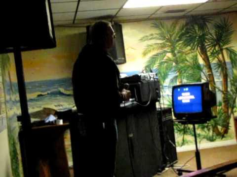 Bob sings karaoke