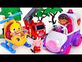 The house is on fire! McStuffins Rescue! Let's rescue Pororo and heal him! | PinkyPopTOY