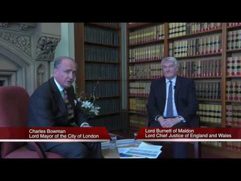 Lord Mayor interviews Lord Burnett of Maldon, the Lord Chief Justice, on trust