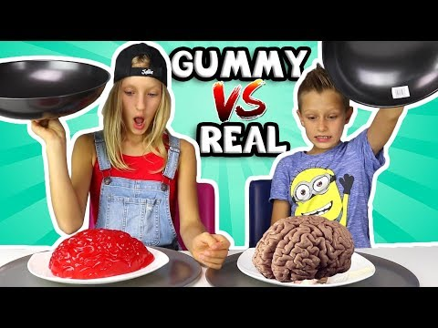 Thumbnail: ALL GUMMY vs REAL IN ONE VIDEO!!!!!!