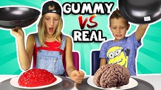 Download ALL GUMMY vs REAL IN ONE VIDEO!!!!!! Mp3 and Videos
