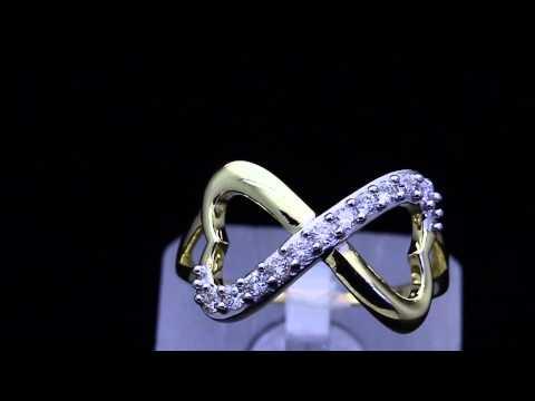 DIAMOND INFINITY HEART RING YELLOW GOLD