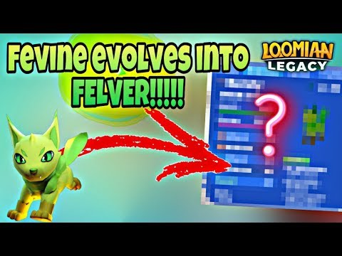 Fevine To Felver Evolution On Loomian Legacy Roblox Youtube