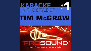 Everywhere (Karaoke With Background Vocals) (In the style of Tim McGraw)