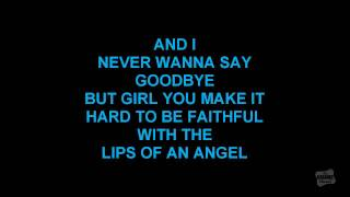 Lips Of An Angel in the style of Hinder karaoke video with lyrics