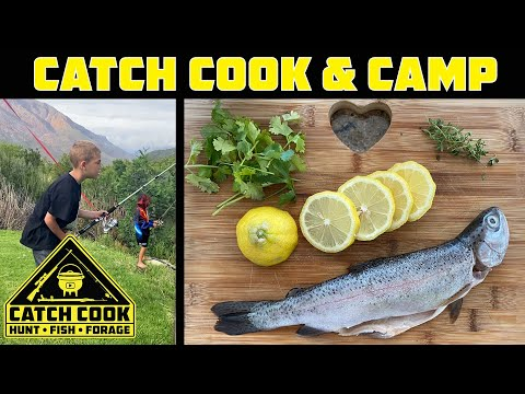 Trout fishing and camping with kids. Cape Town  [CATCH COOK CAMP]