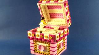 LEGO Musicbox MOC My Own Creation with a ballerina doing a pirouette Unfortunately a sound brick was too expensive to include in this build Besides
