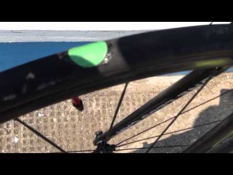 How to repair a punctured tubular tyre beside the road!