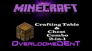 crafting table chest combo 2 in 1 hidden chests minecraft xbox 360 ps3 tutorial