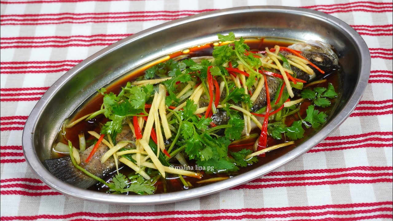 Download Cara Masak Ikan Siakap Stim Chinese Style | siakap stim resepi simple mudah & sedap | malina lina pg