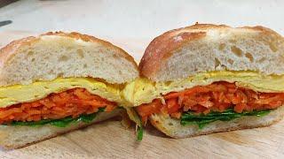 ♧당근라페를 이용한 샌드위치 만들기♧