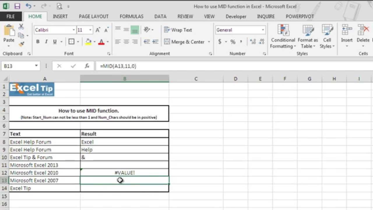 How To Use MID Function In Excel