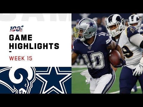 Rams vs. Cowboys Week 15 Highlights | NFL 2019