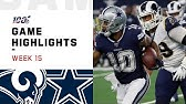 Rams vs. Cowboys Week 15 Highlights   NFL 2019