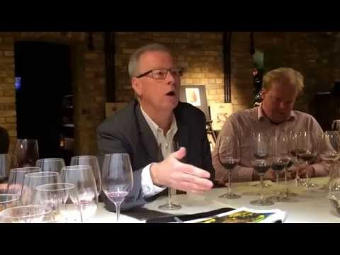 John Duval speaks about the his Entity wine during tasting at Hedonism Wines in London