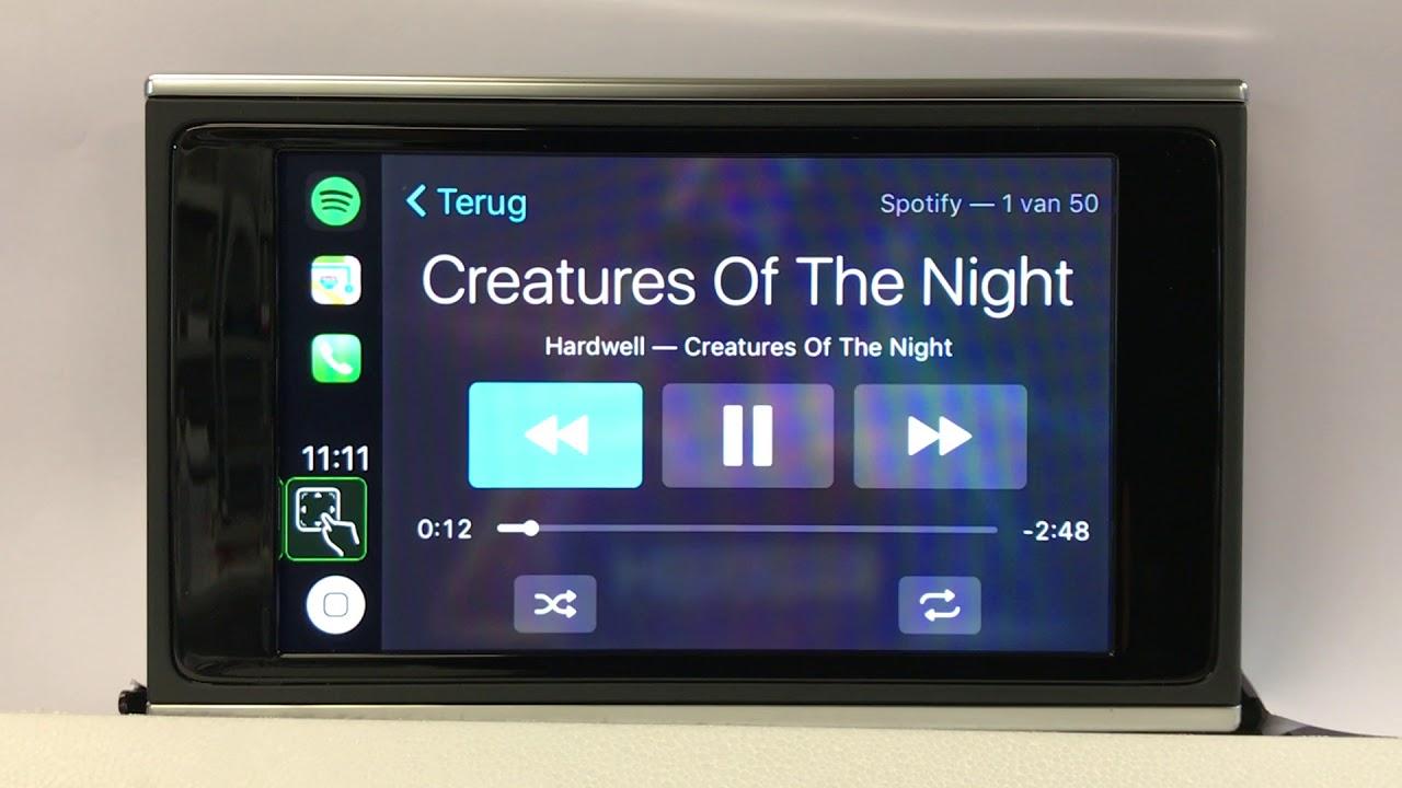 audi a6 a7 smartphone interface aka apple carplay youtube. Black Bedroom Furniture Sets. Home Design Ideas