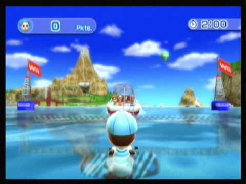 Wii Sports Resort Wakeboarding 2483 Points Youtube