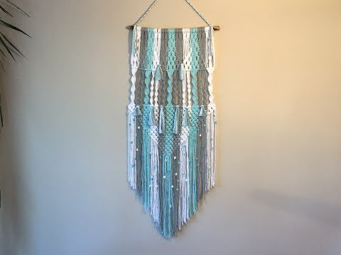 Learn macrame wall hangings - 3 colour pattern