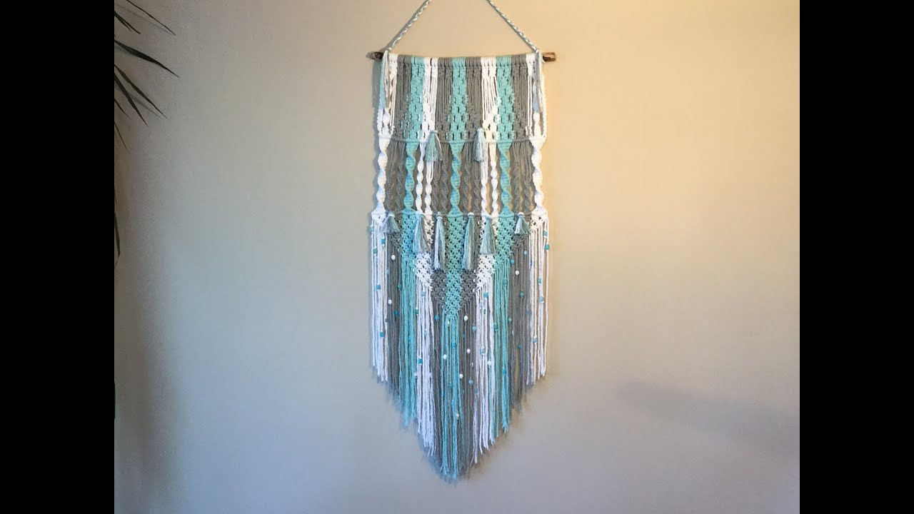 Learn Macrame Wall Hangings 3 Colour Pattern Youtube