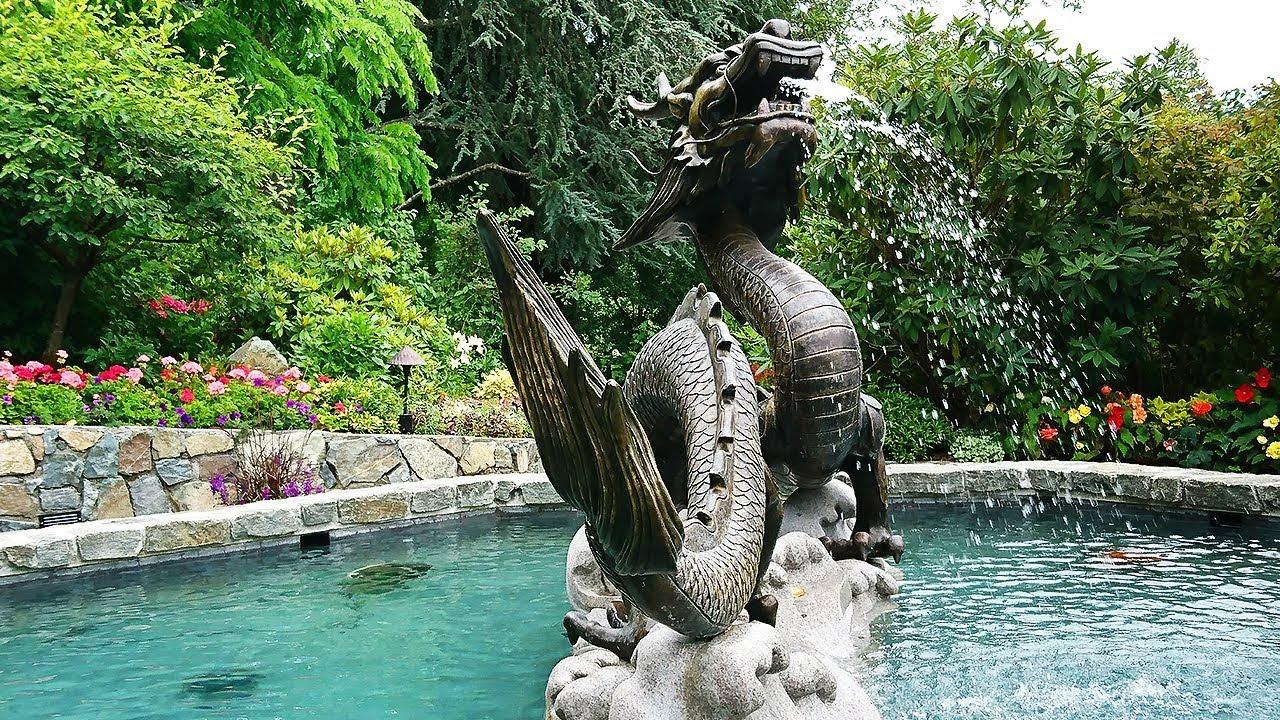 Butchart Gardens, Japanese garden Victoria BC - YouTube