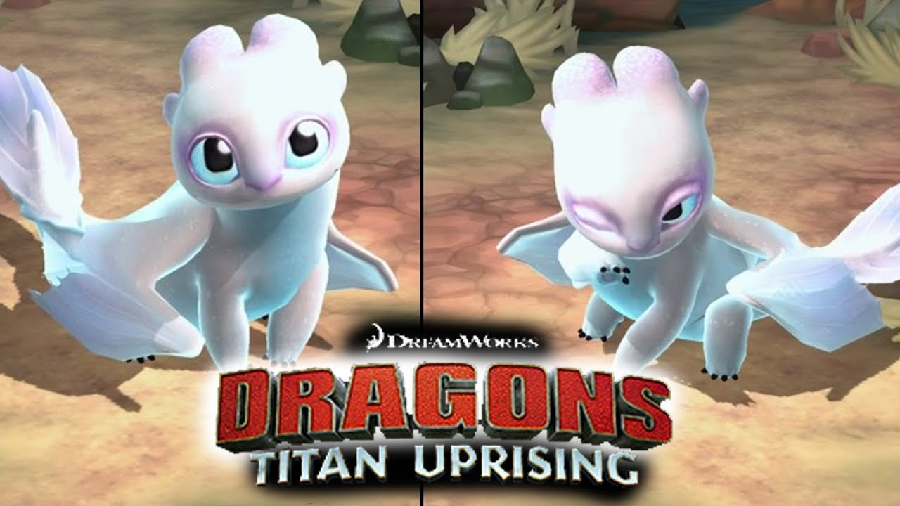 Have you seen BABY LIGHT FURY? | HTTYD Dragons: Titan Uprising