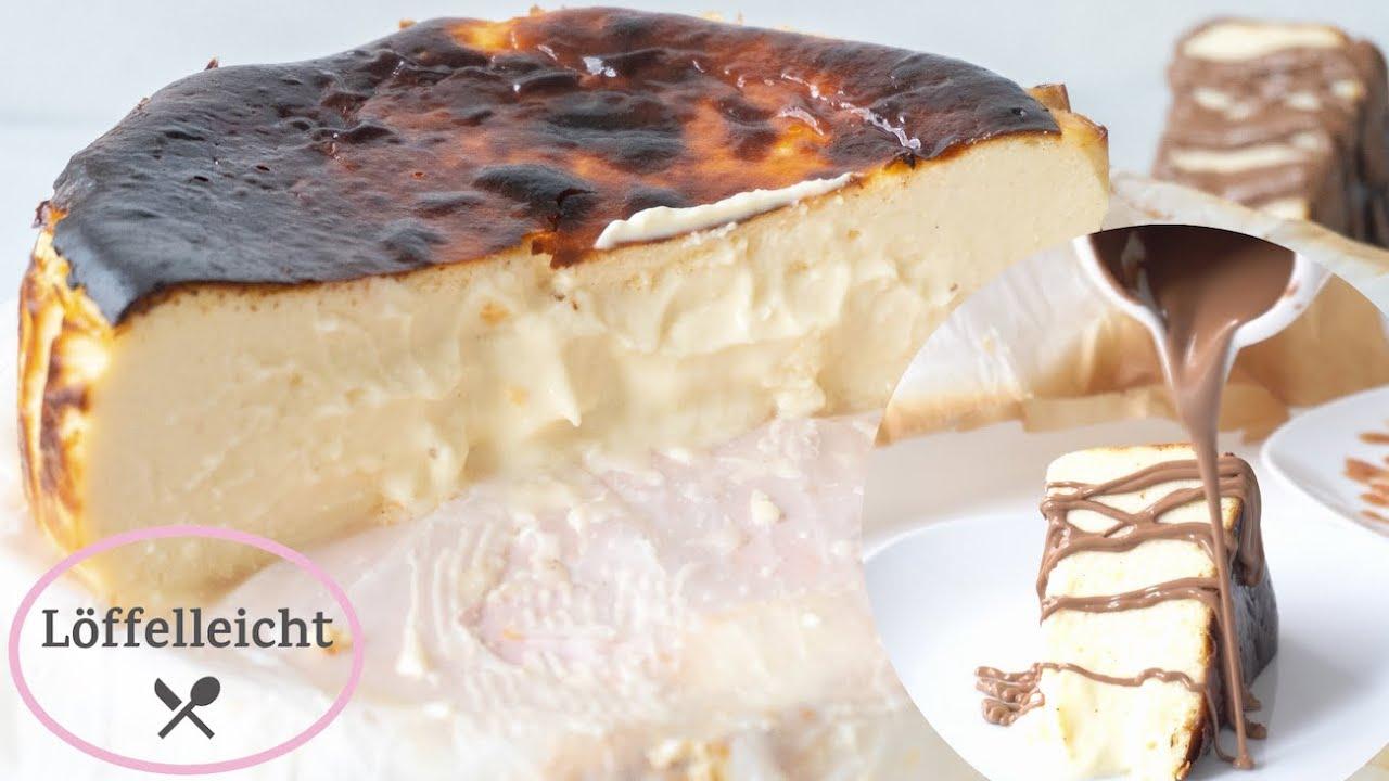 San Sebastian Cheesecake   unglaublich cremig   einfach selber machen    Rezept deutsch