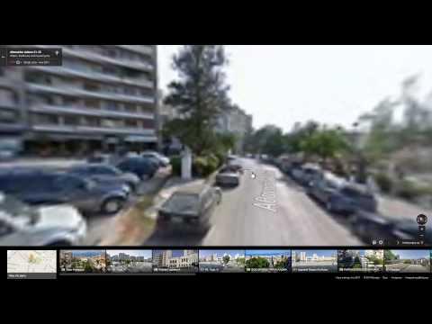 Google street view of Patras - Greece