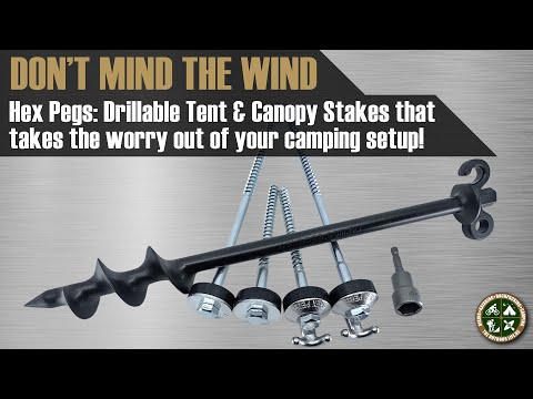 Hex Pegs: Drillable Tent & Canopy Stakes