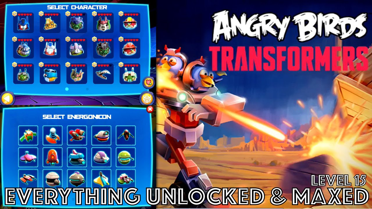 Angry Birds Transformers COMPLETE: All Energonicons ...