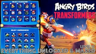 Angry Birds Transformers COMPLETE: All Energonicons Crafted, All Characters Lvl 15