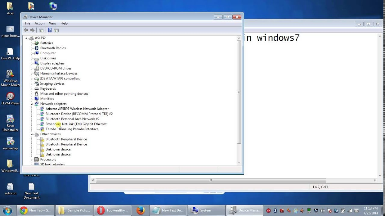 how to uninstall LAN driver in windows 7