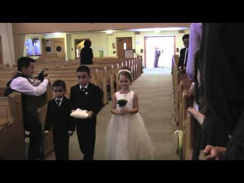 Church Wedding entrance