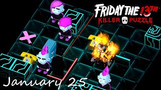 Friday the 13th Killer Puzzle Daily Death January 25 2021 Walkthrough