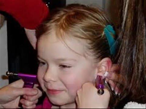 Claire S Ear Piercing Steps Precedure Youtube