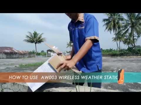 Cara Pasang dan Penggunaan Alat Pemantau Cuaca Weather Station AW002