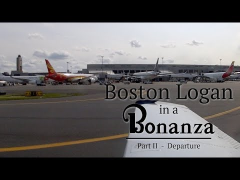 Boston Logan in a Bonanza - Departure