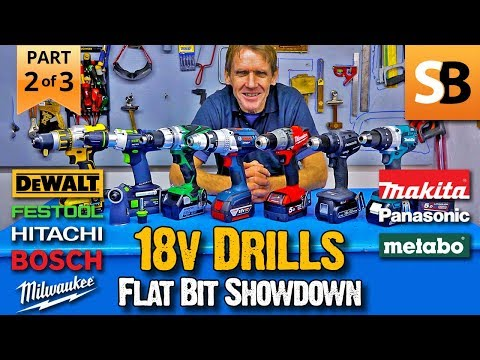 18v Drills - Who's the Best Flat Wood Bit Performer?