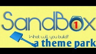 ROBLOX SANDBOX #1 lets build a theme park