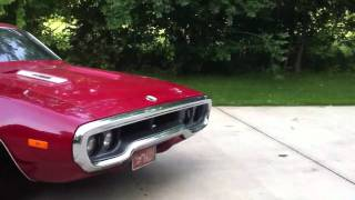 1972 Plymouth road runner 440 six pack burn out