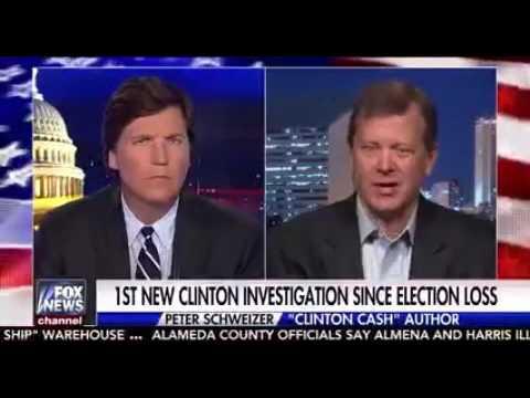 Peter Schweizer Talks To Tucker Carlson About New Clinton Investigation