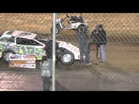 Ark La Tex Speedway USMTS Jake Gallardo Victory Lane interview 2/27/16