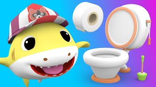 Baby Shark with - Potty Training Song - Nursery Rhymes Songs for Children