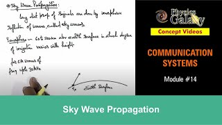 14. Physics | Communication Systems | Sky Wave Propagation | by Ashish Arora